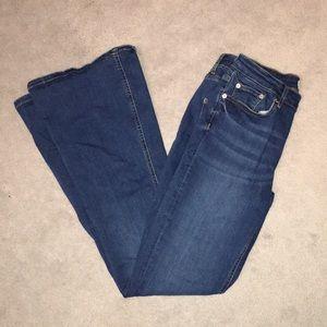 Zara Premium Denim Flare Jeans